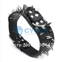 Wholesale New Studded Rivet Leather Adjustable Dog Collars Neck quot quot Crocodile Pet Collar