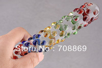 Male G-Spot Vibrators Silicone Crystal Penis Female Sex Toy Glassware Ice Hot Rods Coloured Glaze Wand Sex Products FREE SGIPPING