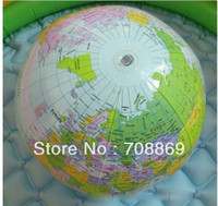 Wholesale Fast shipping Inflatable World Globe Classroom Pool Ball Geography Education Teaching Aid Map