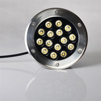 Wholesale Stainless steel W LED Underground Light Round Buried lighting LED project lamps LED outdoor lamps DC24V V OR AC85 V IP68