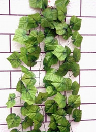 Wholesale - - 20pcs 6.8feet Wired Ivy Garland Silk Artificial Vine Greenery For Wedding Home Office