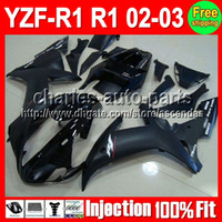 100% Injection Mold Matte Black For YAMAHA YZF R1 02- 03 YZF-...