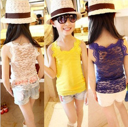 Wholesale 2014 girls of summer new lace openwork knitting super soft vest primer Tank Tops T shirts F18