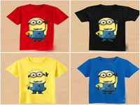 Wholesale Desoicable me t shirt baby boys cartoon t shirt shirts tops short sleeve cssual boys summer wear kids clothes