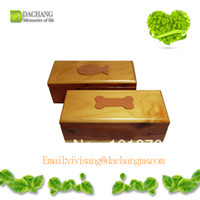 Wholesale wooden pet urns for ashes pet casket