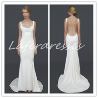 Trumpet/Mermaid Reference Images Spaghetti 2014 New Arrival boho wedding dresses with Backless Mermaid Court Train Sexy Beach Chiffon Designer Bridal Dress Gowns 0225