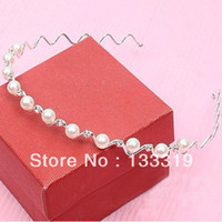 Wholesale hair ornaments Fashion Rhinestone amp Imitation Pearl Wave Hairpin Headbands Hair Bands HOT vintage jewelry