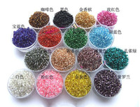 Crystal   P005 Free Shipping 1500pcs Jewelry Making 2mm Czech Glass Seed Spacer Beads mixed color Colors