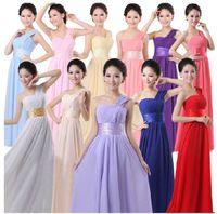 Reference Images floor length maxi dress - New Cheap Long Maxi Prom Chiffon Dress A Line One Shoulder Zipper Floor Length Bridesmaid Dresses Color