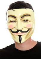 halloween props - Rubies Costume V For Vendetta Mask new V Face Mask Halloween props V for Vendetta Mask V shaped yellow V for Vendetta mask face