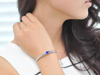 sapphire bracelet - concise style Tennis bangle with cubic ace of spade sapphire gemstone cz stones bow knot bracelet