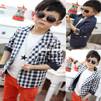 Wholesale Fashion dots Kids Baby Boys Plaids Check Dots Casual Suit Jacket Coat Costume Years XL169 Free amp Drop Shipping