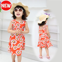 2014 New Baby Beach Dress Child Beachwear Summer Suspender D...