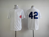 Baseball baseball jerseys - Brooklyn Dodger Jackie Robinson Throwback Baseball Jerseys World Series Champions Home Jersey White Men s Vintage Baseball Wears