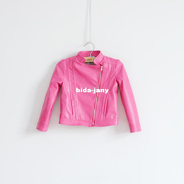 Discount Pink Leather Jacket Child Kids | 2017 Pink Leather Jacket ...