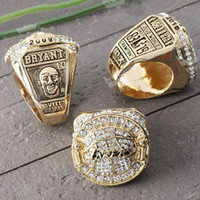 Wholesale 2010 K Gold Plated Champion MVP Men s Sports Basketball Souvenir Bryant Championship Rings Replica US Box