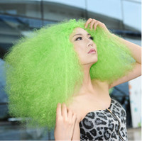 organge Curly Under $50 2014 New Fashion Long Curly Hair Synthetic Lace Wigs Rock Explosion of Small Volume Cheap Women Wig Free Shipping 21