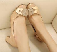 Women Pumps Chunky Heel 2013 vivi fashion sweet metal hasp with single shoes autumn shoes women's shoes