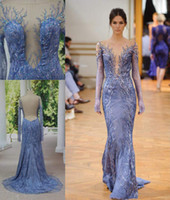 Cheap Real Photos sheer evening dresses Best Jewel/Bateau Lace formal evening gowns