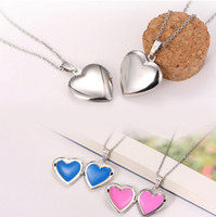 Wholesale Fun Love Heart Lockets Necklaces Charm Pendant Stainless steel Necklace Valentine s Gift