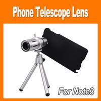 Wholesale Universal x Optical Zoom Telescope Camera Lens Telephoto Lens Tripod Back Splint Holder Case for Samsung Galaxy Note3