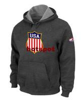 Wholesale Discount Team USA Hockey Winter Olympics KO Pullover Performance Hoodie Deep Grey Men s Hockey Sweatshirts Top Designed Fashion Hoody H