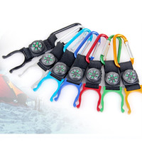Wholesale 13 cm Fashion Travel Bottle Clip MINI Carabiner Compass Hiking Camping Supplies Outdoor Gadgets SH252