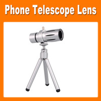 Wholesale Universal x Optical Zoom Telescope Camera Lens Telephoto Lens Tripod Back Splint Holder Case for Apple iPhone C