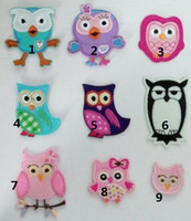 Wholesale FREE POST Mixed Owl Patch the Giggle and Hoot Embroidered Iron On Patch Blue Purple Black Pink Applique Badge Kids Children Cartoon Patch