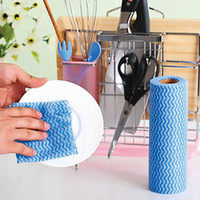 other   50pcs Roll dishclout non-stick oil wipe towel kitchen supplies household cleaning cloth wash towel 20*40cm