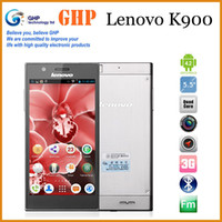 Wholesale Original Lenovo K900 Intel Z2580 GHz Dual Core G G Android Android phone x1080 FHD IPS Screen