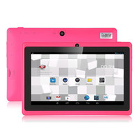 Wholesale Ultrathin Inch A23 Dual Core Tablet PC Android OS MB RAM GB ROM WIFI Dual Camera Netflix Facebook Colors In Stock OEM Service