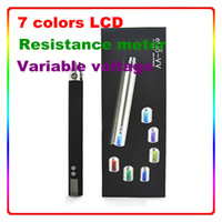 Wholesale Newest ego v vv with resistance meter variable voltage funtion upgrade ego vv ego v v2 battery with colors LCD screen