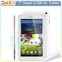 Wholesale Sanei G708 Phone Call Tablet PC G Dual Core inch MTK8312 dual core Android Bluetooth Dual camera Dual sim slot MB G