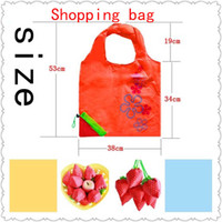 Wholesale Reusable Foldable Strawberry bag Colorful Shopping Bag Grocery Folding Bag