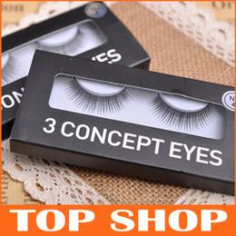 Wholesale False Eyelashes New CE Concept Eyes Natural Fiber Eyelash Eye Lashes Voluminous Makeup Beauty Product MR0004