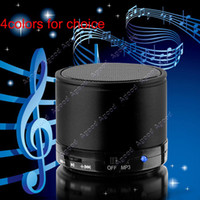 Wholesale 2014 new fashion Wireless Bluetooth Hifi Speakers Mini Portable Bass TF Slot Handfree Stereo Mic colors