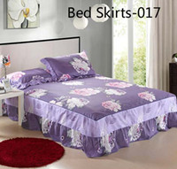 100% Cotton Printed Home Purple Size Twin Full Queen King 100% Cotton Bed Skirts Coverlet Bedclothes Bedspread Counterpane Bed Sheets Bedsheet Bedding Jupes De Lit