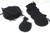 Wholesale Super Deal mm Lovely Thin Black Velvet Drawstring Pouch Bag Jeweley Bag Xmas Wedding Party Gift Bag