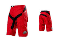 Shorts 100% Polyester Quick Dry Troy lee design TLD Moto Short Bicycle Cycling MTB BMX DOWNHILL Pants Shorts Red High Quality with Pad &YKK Zipper!