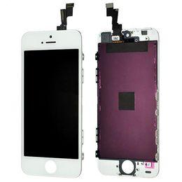 Wholesale Negro Blanco Pantalla LCD de pantalla táctil digitalizador de la asamblea completa para el iPhone S C reemplazo de piezas de reparación DHL EMS libera el envío