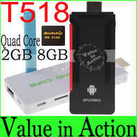 TV Stick Not Included High Definition T518 RK3188 Quad Core TV Stick Android 4.2.2 Mni PC TV Box 1.6Ghz 2GB 8GB Built-in Bluetooth External Wifi Antenna