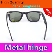 Fashion beach items - Hot item New glasses UV400 protection High Quality Plank black Sunglasses glass Lens black Sunglasses beach sunglasses UV protection glasses