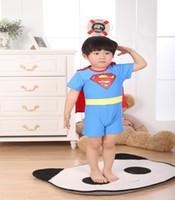 Wholesale Hot New Baby Beachwear Fashion Superman Boy Swimwear Waistcoat Child Swimsuit Kid Swimwear