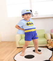 Wholesale 2016 Baby Boy Beachwear Fashion Batman Boy Swimwear Waistcoat Child Swimsuit Kid Swimwear