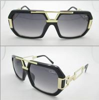 Wholesale Factory Outlet Explosion models big box black gold plate Cazal sunglasses fashion sunglasses new