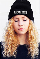 Wholesale Hip hop HOMIES knitted hats for women winter leisure embroidery letters knitting hat fashion mens girls beanie cap