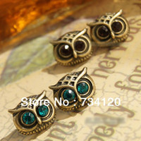 Wholesale ES018 Min order is mix order vintage owl earrings jewery high quality