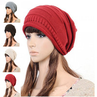 Wholesale girls leisure knitting hat Sets winter cap sale promotion Beanie cap womens and men