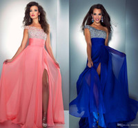 2014 royal blue Watermelon New One Shoulder Chiffon backless...